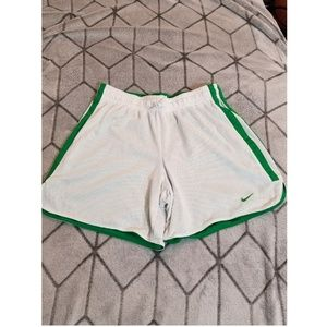 Nike Womens Gym Shorts White Green Size Small